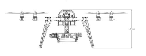 Oktocopter height